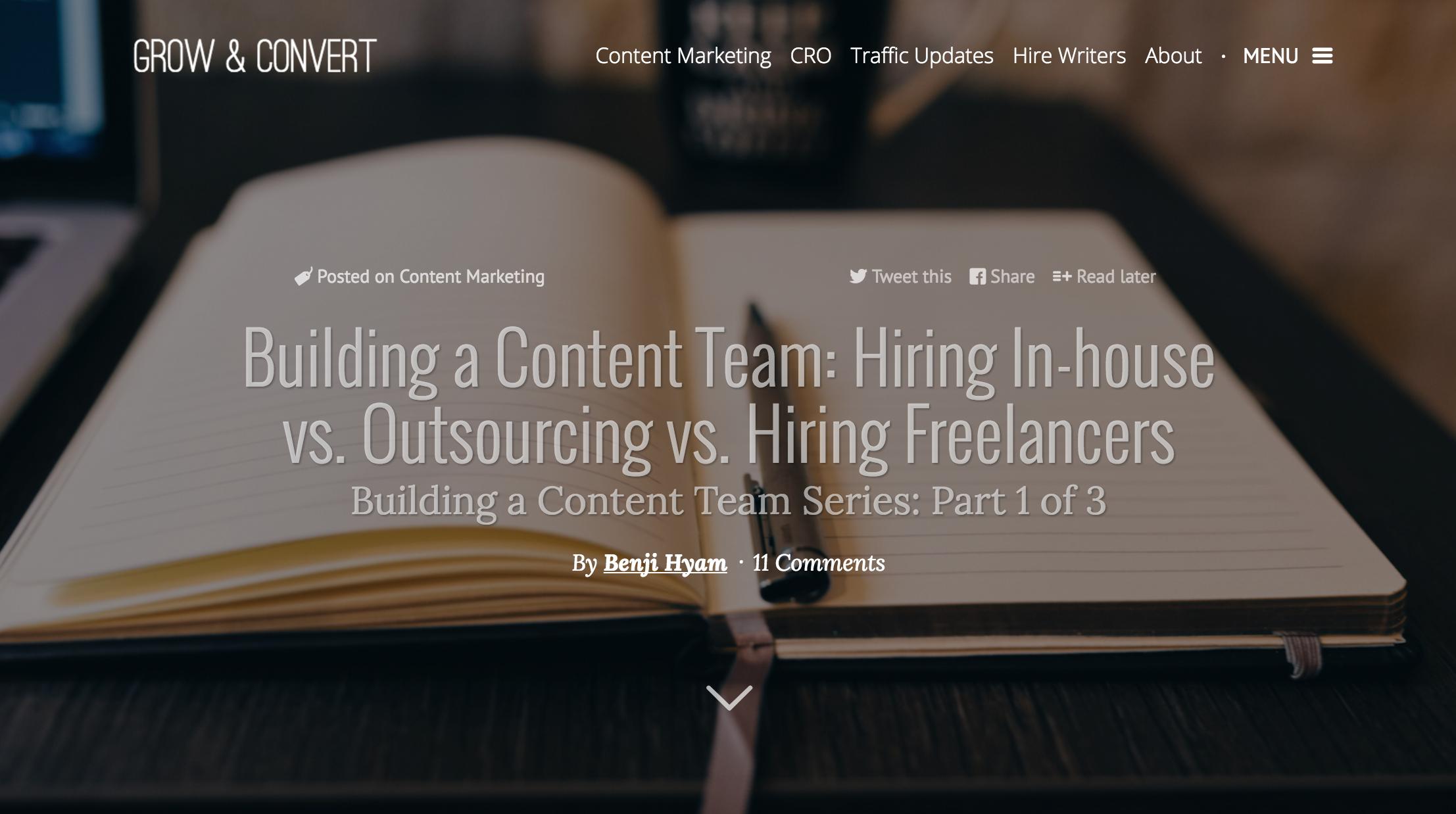 Grow and Convert Benji Hyam content team