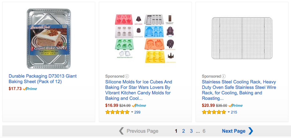 Amazon sponsored products ads example
