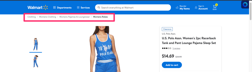 catégorie Walmart