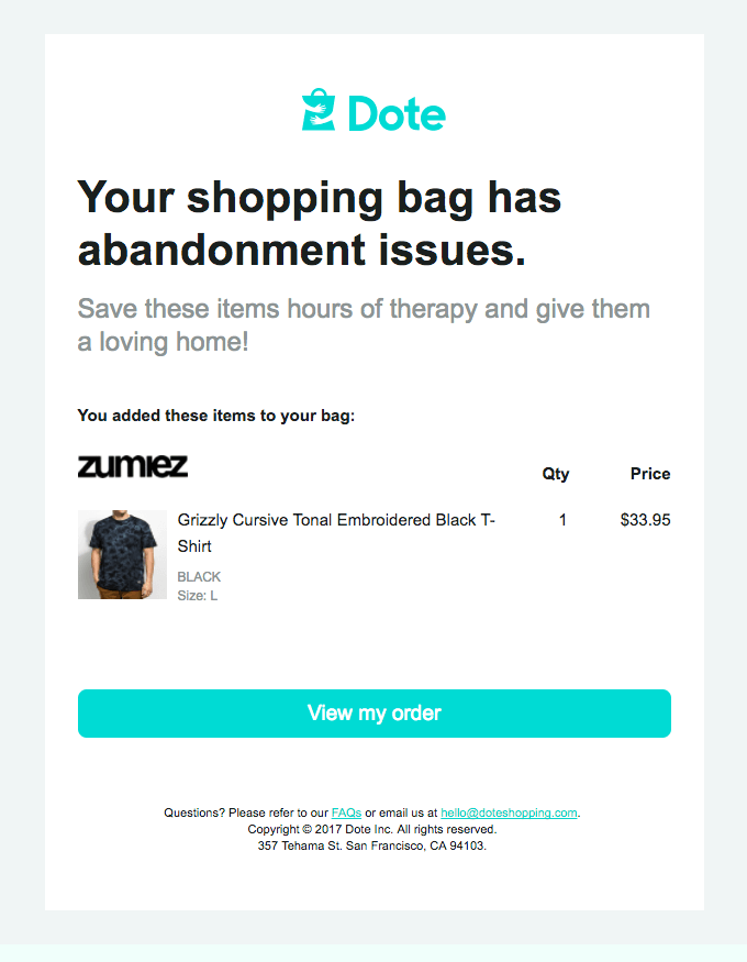 abandoned cart email best practices