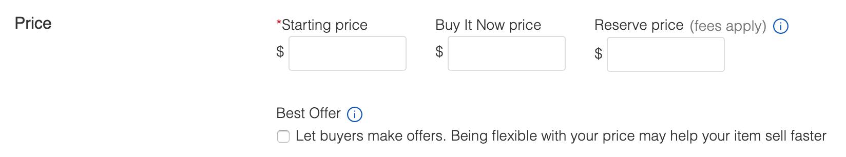 ebay price item