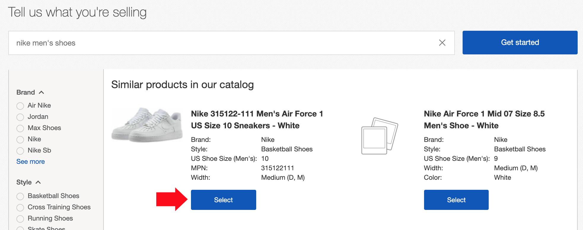 ebay select product