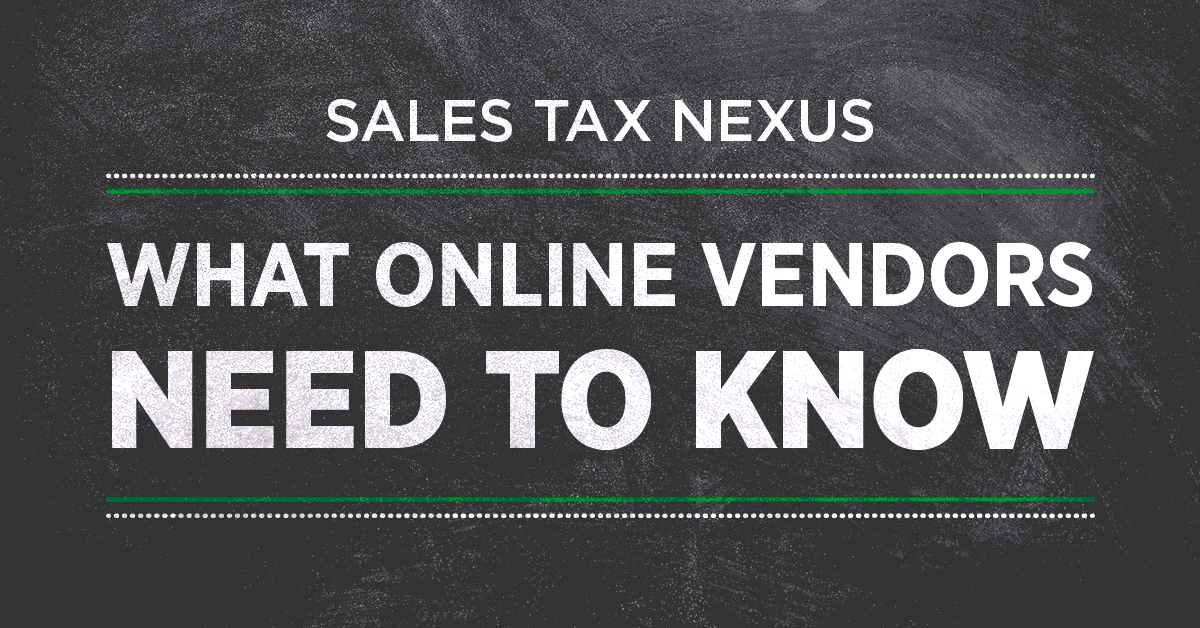 ecommerce sales tax nexus